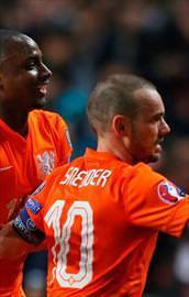 Wesley Sneijder UEFA manşetinde