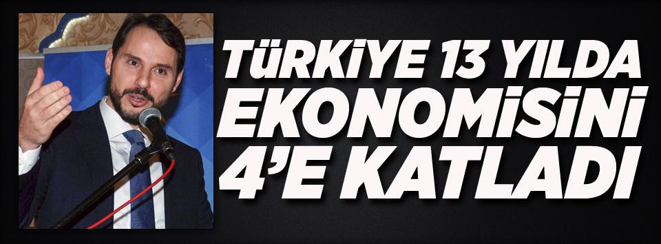 Türkiye ekonomisini 4e katladı