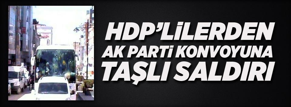 HDPliler AK Parti konvoyuna saldırdı