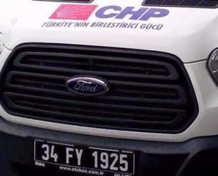 CHPli belediyeden resmi plakalı skandal!