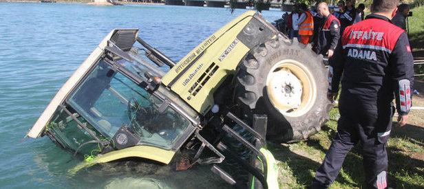 Traktörle nehre uçtu!