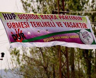 Çirkin HDP pankartına tepki