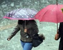 Hem yağmur hem de dolu geliyor!