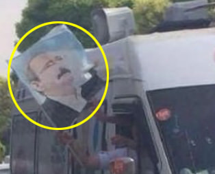 HDP seçim aracında Kılıçdaroğlu bayrağı