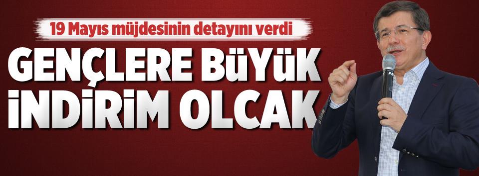 Davutoğlu: Gençlerimize yüzde 35 indirim olacak