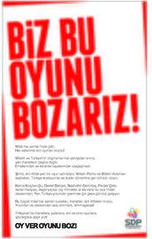 SDPden dikkat çeken ilan