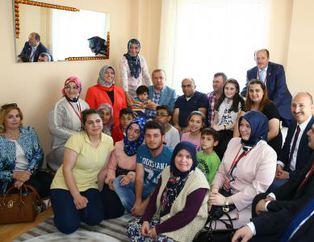 Cumhurba�kan� Erdo�an'dan 3 aileye sürpriz ziyaret