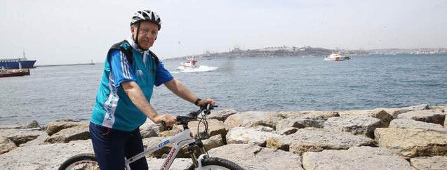 Cumhurbaşkanı Erdoğan'ın bisiklet turundan görüntüler
