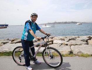 Cumhurba�kan� Erdo�an'�n bisiklet turundan g�r�nt�ler