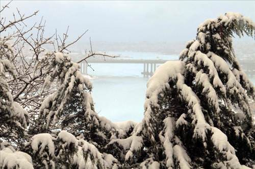 Istanbul dan kar manzaraları