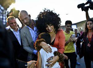 Lady Gaga'ya �stanbul'da co�kulu kar��lama