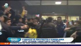 Fenerbahçe'ye olaylı karşılama