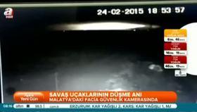 Malatya'da düşen uçakların görüntüleri ortaya çıktı