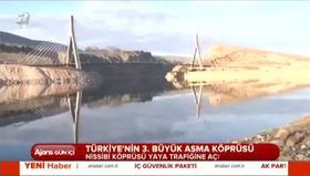Türkiye'nin üçüncü en büyük asma köprüsü Nissibi