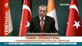 Erdoğan'dan Yemen açıklaması