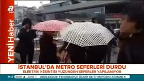 İstanbul'da metro seferleri durduruldu