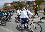 Cumhurbaşkanı Erdoğan bisiklete bindi