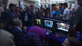 Cumhurbaşkanı Erdoğan yönetmen koltuğuna oturdu
