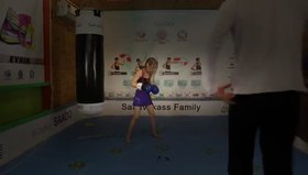 Küçük kızın müthiş boks antrenmanı