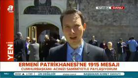 Erdoğan'dan Patrikhane'ye mesaj