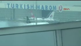 Yolcu uçağı bir anda alev aldı