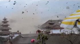Nepal'deki depremin görüntüleri