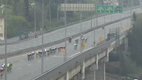 Bisikletçiler Boğaz Köprüsü'nü geçti