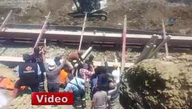 Edirne'de baraj inşaatında göçük