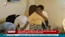 PKK'lılar namazla dalga geçti!