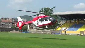 Hava ambulansı küçük çocuğun imdadına yetişti