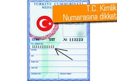 E-devlet TC Kimlik No