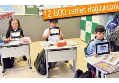 Tablet bilgisayar da��t�lacak okullar�n listesi