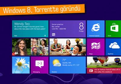 Windows 8, Torrent'te g�r�nd�