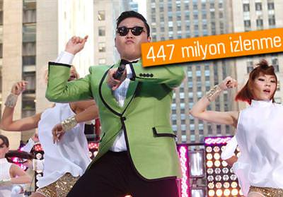 Gangnam Style, YouTube'da en �ok izlenen 10 video aras�nda