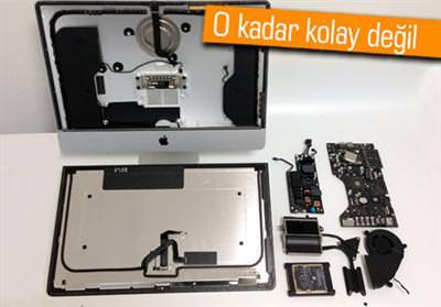 21.5 yeni iMac'e RAM takmak zor