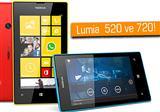 Nokia Lumia 520 ve 720 g�r�nt�lendi