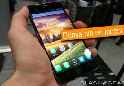 D�nyan�n en ince ak�ll� telefonu: Alcatel One Touch Idol Ultra