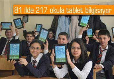 Tablet bilgisayar da��t�lacak okullar�n listesi (81 il)