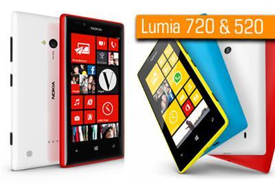 Nokia Lumia 720 ve 520'nin T�rkiye sat�� fiyat� a��kland�