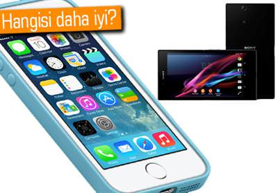 iPhone 5S ve Sony Xperia Z1 kar��la�t�rmas�