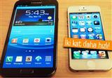 iPhone 5'in dokunmatik ekran� t�m Android telefondan h�zl�