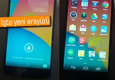 Android 4.4 ve Nexus 5'in yeni fotoğrafları sızdı