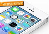 iOS 7 kullan�m oran� art�yor