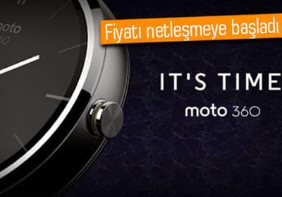 Moto 360'�n yeni fiyat bilgisi geldi