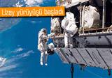 Rus kozmonotlar�n uzay y�r�y��� ba�lad�