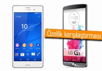 IFA 2014: Sony Xperia Z3 ve LG G3 kar��la�t�rmas�