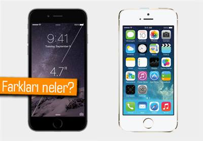 iPhone 6 ve iPhone 5s kar��la�t�rmas�