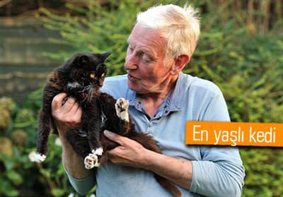 115 ya��ndaki kedi Guinness'e girmeye haz�rlan�yor
