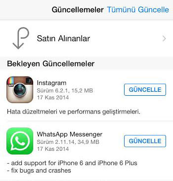 whatsapp güncelleme programı