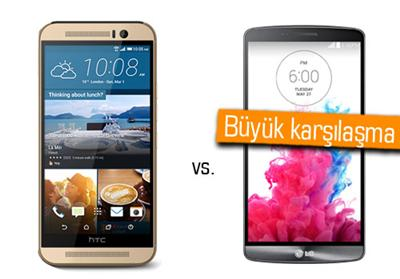 MWC 2015: HTC One M9 ile LG G3 kar��la�t�rmas�